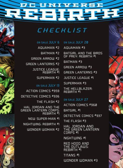 July Rebirth_checklist