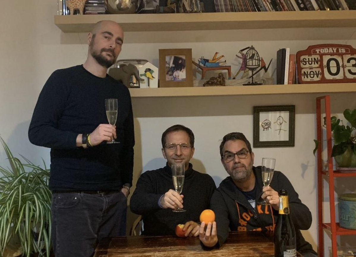 From left - Alex, Tommaso, Giulio